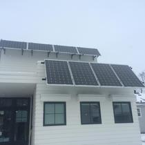 Solar awnings added for shading and electricity production