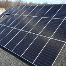 Residential Roof Mount Solar Panel Installation in Avon, Ohio.