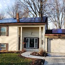 Residential 4.48 kW System installed in Brook Park, Ohio.