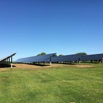 SED helps businesses go solar too, here's a 72.8kW array at Long Acre Farms in Macedon.