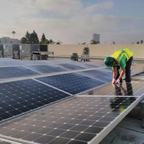 Commercial solar installation by Home Energy Systems for the YMCA in San Diego, CA