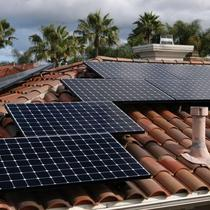 Solar system installed on a residential home in San Diego, CA