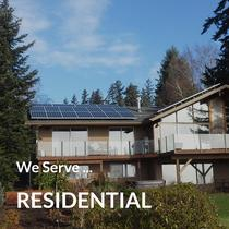 We serve residential solar tailored to your home.