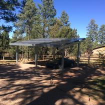 Solar Shade structure with optimizers due to shading