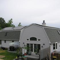 Completed solar electric installation in Westerly, RI