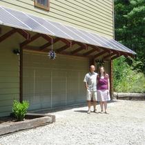 Solar awning installation