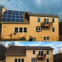 Before & After pictures of a 9.6kW installation in Syracuse, NY