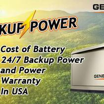 50% Compared to battery Backup Power!