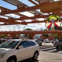 Solar panels on carport