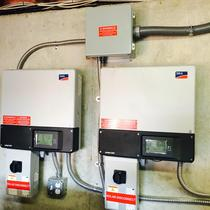 Inverters for 17.08 kilowatt solar array in Carthage, MO