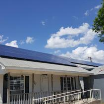 Roof mounted solar in Bridgeport, TX