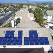 4kw system shot with drone