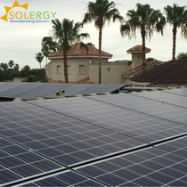 Solergy Residential Roof Mount Installation in Sharyland