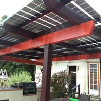 Custom Patio Cover with Glass PV Modules