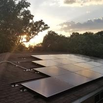 7.6kW system covering 100% of teh customers electricity usage