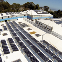 Commercial solar installation in Santa Cruz