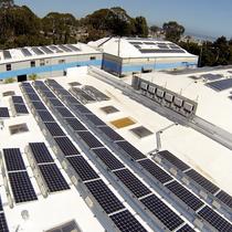 Commercial solar installation in Santa Cruz