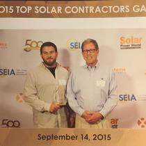 Accepting Top Solar Contractors Award