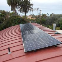Point Loma install on standing seam metal roof.