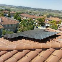 San Diego install on curved cement tile.