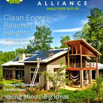 Solfarm Solar Co. featured on the cover of Green Built Alliance- 7.29 kW hybrid system on the Portwood residence