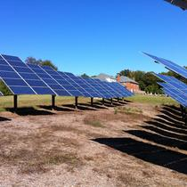 Pole Mounted solar array in Milford VA