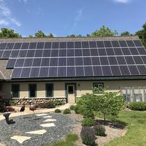 24kW roof mounted solar array in Harvard, IL