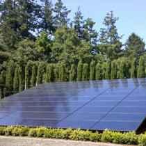 Sunpower ground mount in Aptos, CA