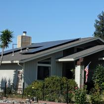 Sunpower roof mount in Hollister, CA