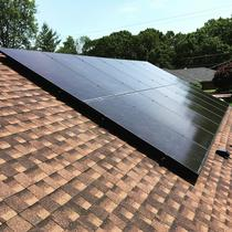 280 Trina Black on Black panels installed in Middlebury
