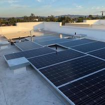 Residential solar on flat roof (3rd floor Building)