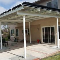 Residential solar at patio