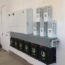 (2) Schneider inverters, Charge Controllers, and (6) 3.2kWh SimpliPhi batteries