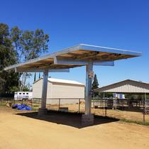 9kw solar carport shade structure for livestock