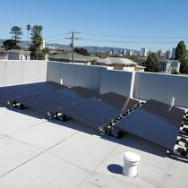 Sollega flat roof solutions with zero penetrations (solaria modules)