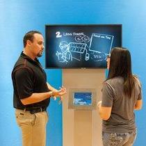 Interactive iPad video kiosk