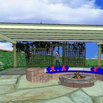 A Cozy Fire Ring with the Ramada