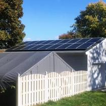 Nice detached garage array with SolarWorld panels in Linthicum Heights, Maryland