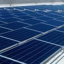 Commercial solar project, 224 modules, with no roof penetrations