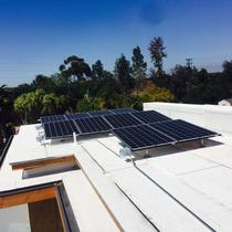 Flat Roof Upgraded with LG Solar Panels