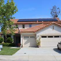 SunPower by Precis solar installation on s-tile roof in Wildomar.