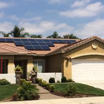 SunPower by Precis solar install on flat-tile roof in Temecula.