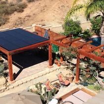 SunPower by Precis custom patio solar installation.