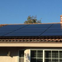 solar installation all black panels and micro inverters