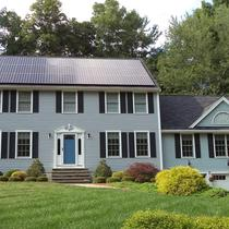10 kilowatt solar electric array installed in Byfield, New Hampshire