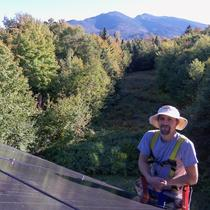 Another friendly solar installer - Christopher Lee, outside his 'office' overlooking the white mountains!