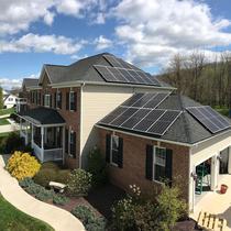Home solar install in VA by Paradise Energy
