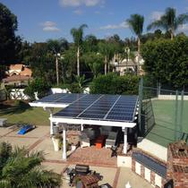 Solar Patio Cover in Anaheim using SolarWorld SW285 Watt panels.
