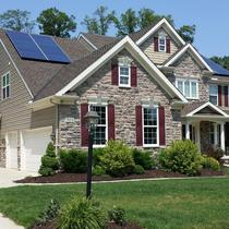 Solar in the front of the house
